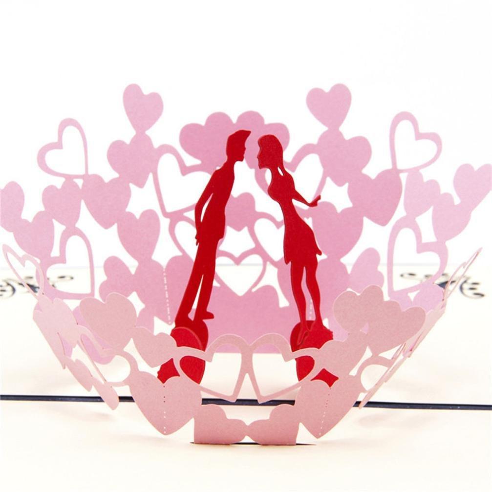 Longra Beautiful Flower 3D Pop Up Cards Birthday Anniversary
