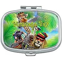 Montego Bay Jamaica Giraffe Zebra Löwe Rechteck Pille Fall Schmuckkästchen Geschenk-Box preisvergleich bei billige-tabletten.eu
