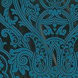 Dutch Wallcoverings 7196–5Paisley Design Tapete–Petrol
