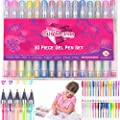 GEL PENS ART SET FOR GIRLS: 30 Pieces, Fun & Creative, Craft & Colouring Pens Set for Kids & Teens - Colouring for kids. Best Gifts Toys & Birthday Present Idea For Girls and Kids Of All Ages
