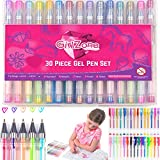 GEL PENS BIRTHDAY GIFT FOR GIRLS: 30 Pieces, Ideal Arts & Crafts Gift For Kids, Coloring Pens for Kids, Girls & Teens. Birthday Present Gifts For Girls Age 3 4 5 6 7 8 9 + years old.
