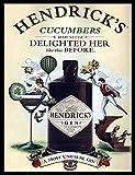 Ecool Hendrick 's Gin Never freut Sie wie dieses Bevor Retro Shabby Chic Vintage-Stil Bild Metall Wandschild Schild (280x 200mm)
