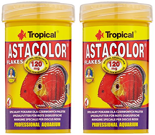 Tropical Astacolor, farbförderndes Flockenfutter, 2er Pack (2 x 100 ml)