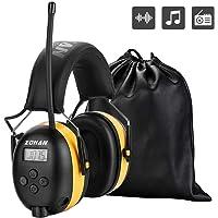 ZOHAN 042 Casque Anti Bruit FM/AM Radio, Protection Auditive avec Sac Transport,avec entrée MP3 SNR 30dB pour Debroussailleuse,Tonte,Construction,Menuiserie,Loisirs (Jaune)