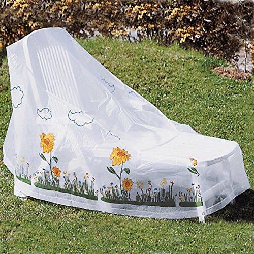 Abdeckhaube für Sonnenliege, Schutzhülle Schutzhaube Abdeckplane Abdeckung wetterfestem Kunststoff 155 x 82 x 85 cm