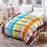 Blanket Plush Nap Lazy Bed Couch Flannel Super soft Warm Extra silky-F 150x200cm(59x79inch)
