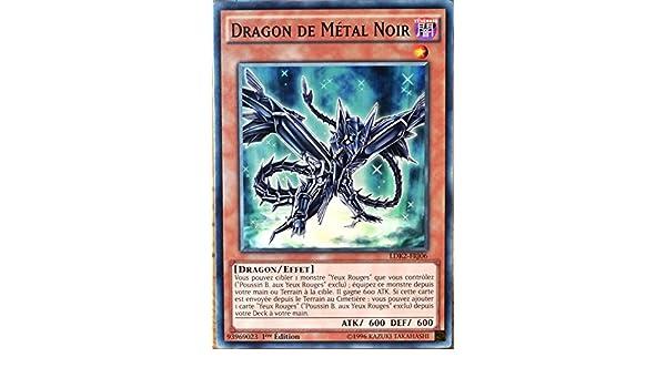 carte Yu-Gi-Oh LDK2-FRJ06 Dragon de M/étal Noir