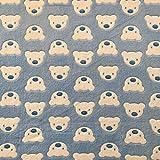 Teddy Bear Blue Super Soft Cuddle Fleece Fabric 63 (160cm)
