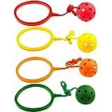 NUOBESTY 4 st barn vrist hoppa boll hoppande ring boll hoppa leksak fitness sport gunga boll för pojkar och flickor