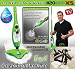 EVERYTHING H2O MOP 5-in-1 X5 Steam Cleaning Electric Portable Floor Cleaner (Green)