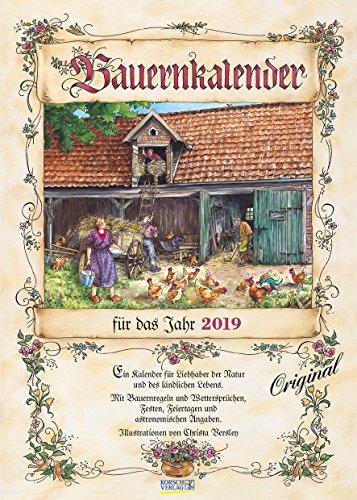 Bauernkalender 222719 2019: Wandkalender mit Bauernweisheiten und passenden Bildern. DIN A3 mit Foliendeckblatt. (Mutter Natur Kalender)