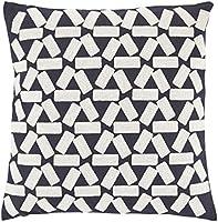 Dutch decor Gillis Coussin, coton/polyester, bleu foncé, 45x 45, 45cm x 45cm