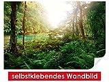 selbstklebendes Wandbild Mysterious Jungle – leicht zu verkleben – Wallprint, Wallpaper, Poster, Vinylfolie mit Punktkleber für Wände, Türen, Möbel und alle glatten Oberflächen von Trendwände