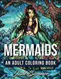 Books Best Deals - Mermaids: An Adult Coloring Book with Mystical Island Goddesses, Tropical Fantasy Landscapes, and Underwater Ocean Scenes