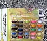 na-und 25 Nähgarn Nähmaschinen Spulen 4 Nadeln + Einfädler