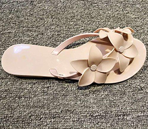 ZYUSHIZ Frau Sandalen Hausschuhe Sommer stilvoll mit dem minimalistischen Stil 37EU