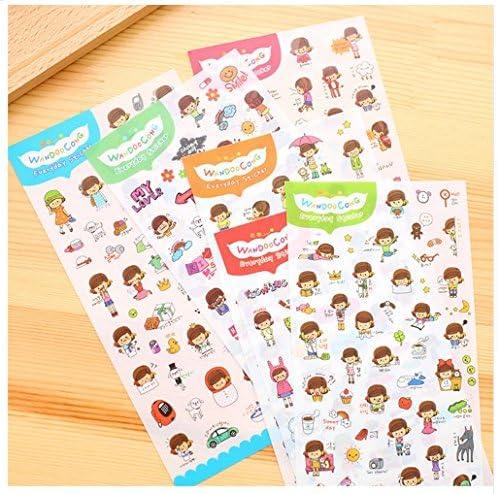Sticker Sticker Sticker journal quotidien des enfants 6 feuilles d'environ 350 pièces | Faible Coût  e6d9a0