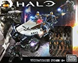 Mega Bloks Toy Playset - Halo NMPD Warthog and 6 Figure - 213 Piece Collector Construction Set