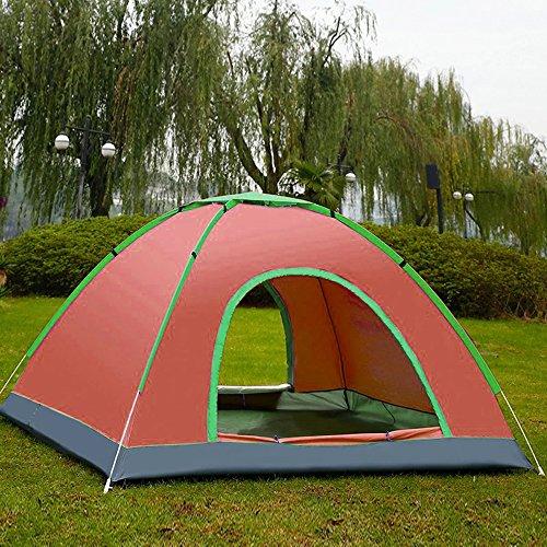 YUMAI Tente Automatique/Ouverture Rapide/Construction Libre/Camping/Plage/Pêche/extérieur/Tente de Tourisme Tente Doubl