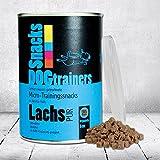 DOGTRAINERS Lachs PUR 3 x 110g getreidefrei glutenfrei als Barf-Ergänzung geeignet 100% Lachs ca. 100 Stück auf 100g