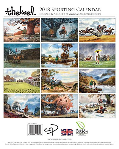 Thelwell Sporting Calendar 2018. Large wall calendar featuring the