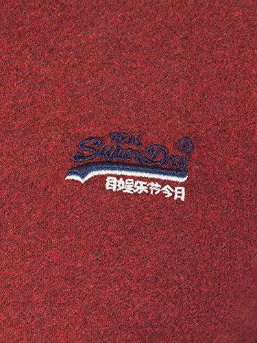 Superdry Herren T-Shirt Orange Label Vintage Emb Tee Rosso (Sonix Red Grit)