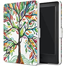 "MoKo Funda para Kindle 8th Generación - Funda de SmartShell Más Delgada y Ligera con Auto Sueño / Estela para Amazon All-New Kindle E-reader (6"" Display, 8th Generacón 2016), Árbol de Suerte (No es compatible con el kinlde paperwhite)"