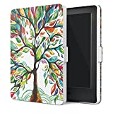MoKo Funda para Kindle 8th Generación - Funda de SmartShell Más Delgada y Ligera con Auto Sueño / Estela para Amazon All-New Kindle E-reader (6' Display, 8th Generacón 2016), Lucky Álbo (No es compatible con el kinlde paperwhite)