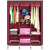 Smart Saver 8 Shelf Closet Organizer Wardrobe Closet Portable Closet Shelves, Closet Storage Organizer Cabinet with Non-Woven