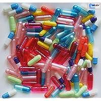Dr T & T 1000surtidos tamaño y color vacías Gelatine Gelatine Cápsulas größe00,0,1,2,3,4