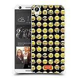 Official Emoji Pattern Smileys Soft Gel Case for HTC Desire 626