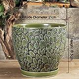 Nclon Keramikplatten Fließenden Glasur Pflanze Pot Blume Pot Pflanze Pflanzer,Kunstwerke Auf Die Schreibtisch Blumentopf,Chinesisch Stil Keramikplatten Blumentopf -A mittlere