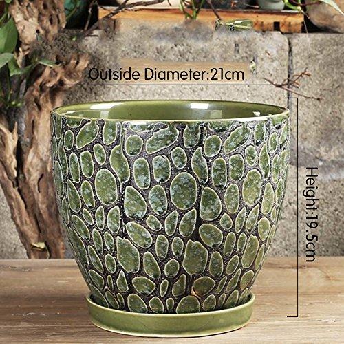 Nclon Keramikplatten Fließenden Glasur Pflanze Pot Blume Pot Pflanze Pflanzer,Kunstwerke Auf Die...