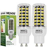 MENGS 2 Stück GU10 LED Lampe 9W AC 220-240V Warmweiß 3000K 64x5733 SMD Mit Aluminium Platte
