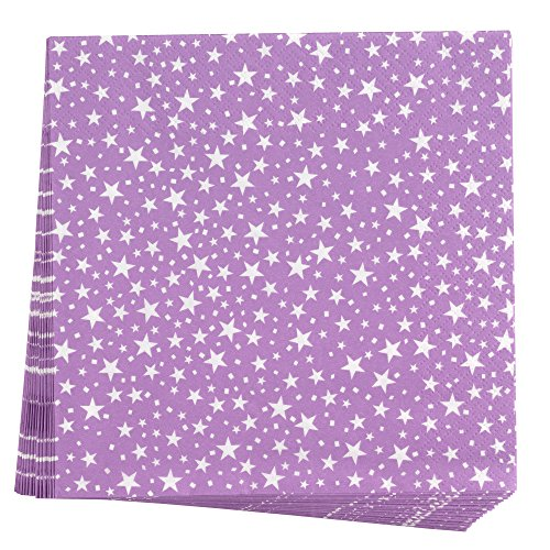 Neviti 678122Carnaval servilletas, estrellas, color morado