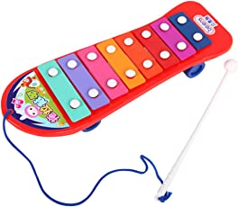 Magideal Kids Child Play Hand Knock Xylophone Serinette Musical Beat Toy Gift Red
