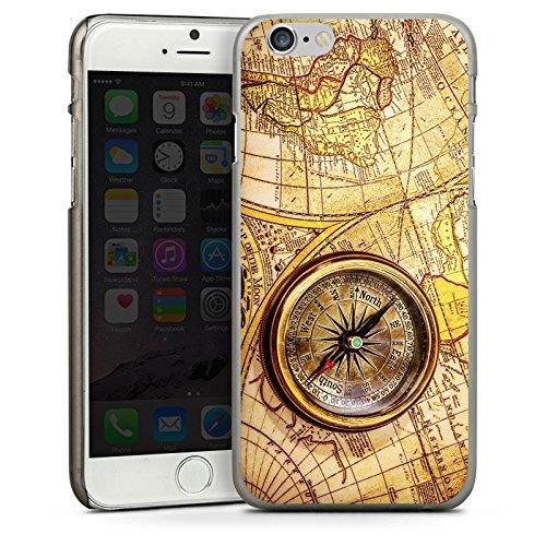 Apple iPhone SE Housse Outdoor Étui militaire Coque Boussole Carte du monde Carte CasDur anthracite clair