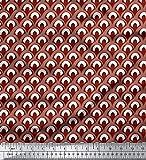 Soimoi Rot japanischer Kreppsatin Stoff marokkanisch Damast