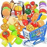 Migavan 36 stücke DIY Lustige Kinder Küche Schneiden Spielzeug Set Einschließlich Obst Gemüse Messer Kinder Küche Pretend Playset Rolle Spielen Spielzeug Set B