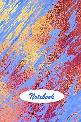 Notebook: Cobalt Blue Rose Gold Marble Design Cover Blank Lined Notebook Journal Cobalt Blue Plain