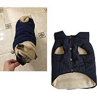 Tineer mit Kapuze Haustier Kleidung Cute Pet Kleidung Warm mit Kapuze französische Bulldogge warme Weste Anzug