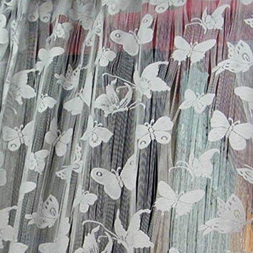 Muster Tassel String Tür Vorhang Fenster Zimmer Vorhang Divider Schal weiß (Halloween-dekorationen Auf Pinterest)
