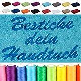 Besticken Sie Handtuch mit Namen oder mit Wunschtext bestickt , Duschtuch (70x140cm) in Pink