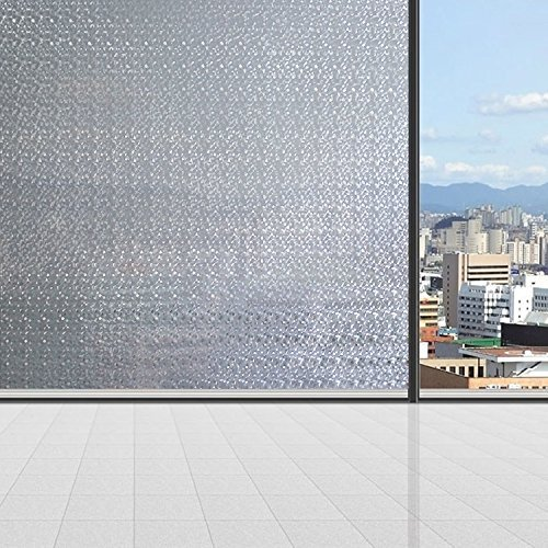 Coavas Static Window Film With Water Ripple Window Cling
