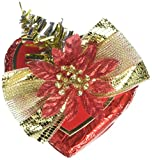 Gunthart Red and Gold Praline Heart with Christmas...