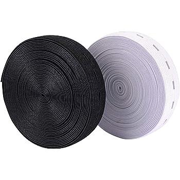 123 2 pcs Support élastique stretch à tricoter élastique à coudre Cordon de  bandes avec boutonnière totale de 20 mm de large 10,1 m 5cf3eb3862bc