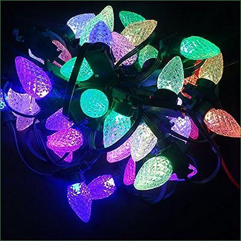 7 LED di colore stringa di Orbs lampade stringhe Led luci di Natale Stringa Stringa 12V,100 luci festose e Tail-White