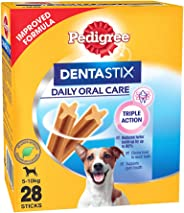 Pedigree Dentastix Small Breed (5-10 kg) Oral Care Valentines Gift Dog Treat, 440g Monthly Pack (28 Chew Sticks)