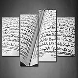 islam livre ouvert Peinture d'art mural photos sur toile de lin Religion la photo pour la maison moderne Décoration