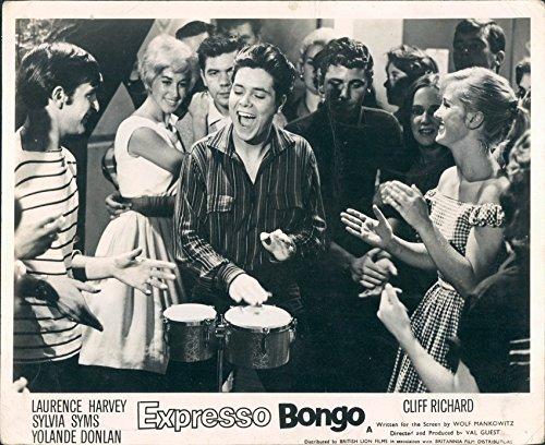 Expresso Bongo Original Lobby Card Cliff Richard Spielen Bongo Drums 1959
